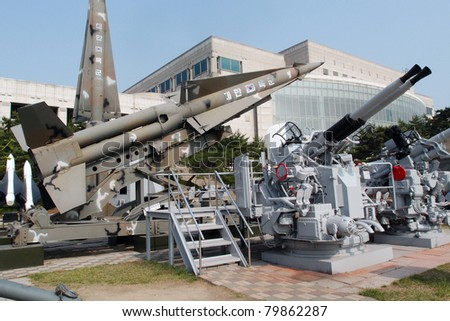 SEOUL - JUNE 08: The Korean War Memorial Museum displays military equipment used in the Korean War on June 08, 2011 in Seoul, South Korea. South Korea is still technically at war with North Korea.