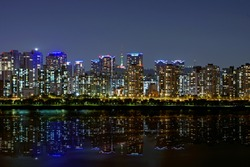 Seoul's Great Water Reflection Night View