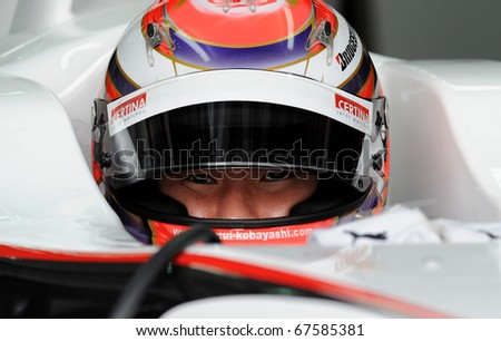 SEPANG, MALAYSIA - APRIL 3 :  Sauber Racing Team Driver, Kamui Kobayashi during qualifying session in Petronas Formula One 2010 at Sepang circuit. April 3, 2010 in Sepang, Malaysia