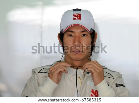 Team Racing Auto Circuit on Stock Photo   Sepang  Malaysia   April 3   William Racing Team Driver