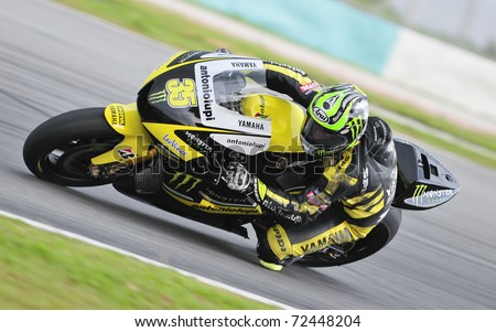 SEPANG, MALAYSIA-FEB 24: Cal Crutchlow of Monster Yamaha Tech 3 at MotoGP Official Test Sepang 2 on Feb 24, 2011 in Sepang, Malaysia.