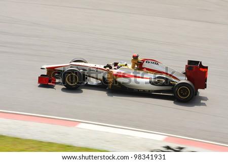 SEPANG, MALAYSIA - MARCH 23: Felipe Massa of Ferrari F1 team racing during Formula One Teams Test Days at Sepang circuit on March 23, 2012 in Sepang, Malaysia.