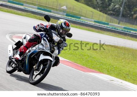 SEPANG, MALAYSIA - SEPTEMBER 3: 2011  Yamaha Factory Racing Team  Test Motorbike on September 3, 2011 at Sepang International Circuit, Malaysia