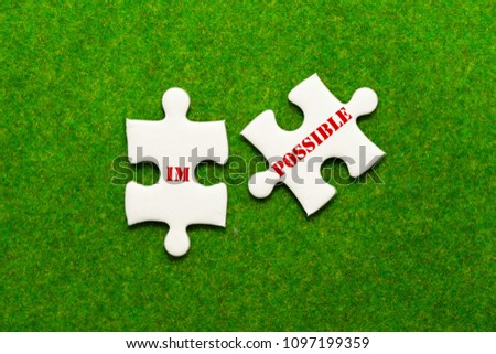 separate two jigsaw puzzle with impossible possible wording #1097199359
