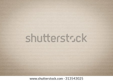 Sepia brown vintage color tone corrugated cardboard paper texture patterned background: Recycled cardboard textured pattern grunge detailed backdrop in sepia grey toned colour with vignette