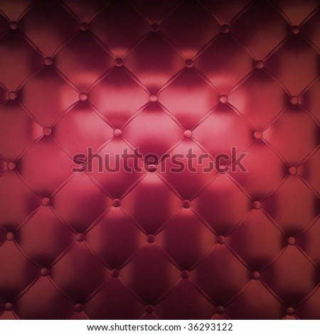 Sepia luxury buttoned red leather