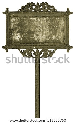 Sepia vintage banner isolated on white background