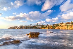 September 14, 2017: A view of La Jolla's coast line in San Diego, California.