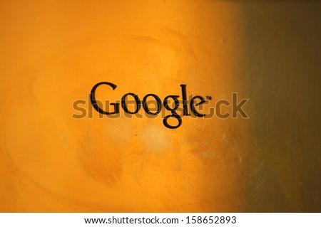 "SEPTEMBER 2013 - BERLIN: the logo of ""Google"" at its office in Berlin."