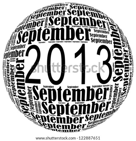 September 2013 info-text graphics arrangement on white background