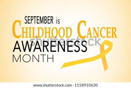 September is childhood cancer awareness month, background with ribbon