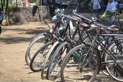 september 13, 2020. temanggung, Indonesia. Old roadster bicycle (sepeda onthel).