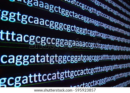 Sequencing of the genome. The sequence of nucleotides in DNA after decryption.
