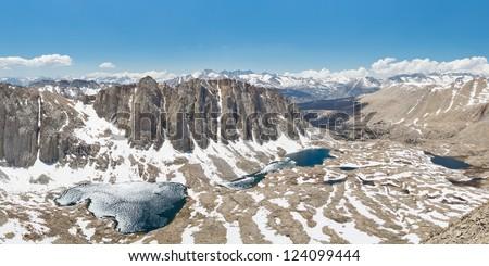 Sequoia National Park Alpine Lakes Panorama, Sierra Nevada, California, USA