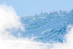 Seracs at Glacier du Trient in Vallée du Trient, Valais