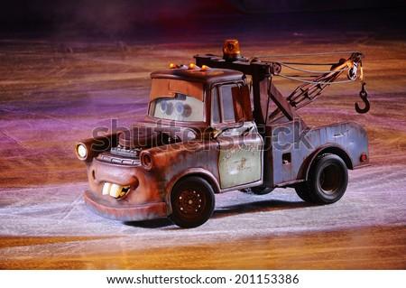 stock photo serbia belgrade november disney pixar s cars race across the ice at disney on ice show 201153386 - Каталог — Фотообои «Для детской»