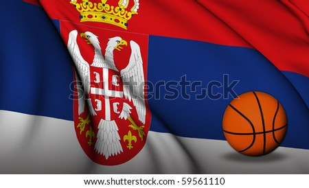 Serbia flag Basketball
