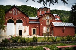Serbian orthodox monastery near Peja, Kosovo, formerly Serbia