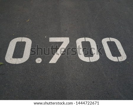 Sereen numbers on the road.Tell the distance. Stockfoto ©