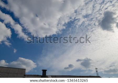 serene blue sky #1365613265
