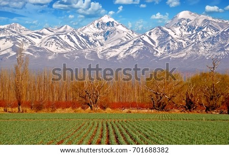Serene: Stunning scenery Argentina Andes Patagonia