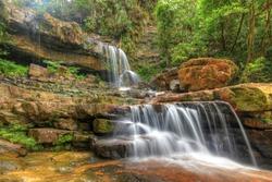 Seri Mahkota Endau Rompin Pahang waterfall, Malaysia in HDR
