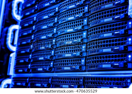 series disk storage disks of the mainframe in data center
