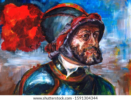 Series of emperors. Charles V of Habsburg - king of Spain, king of Germany from June 28, 1519 to 1556, emperor of the Holy Series great emperors. Roman Empire since 1519.   Stock fotó ©