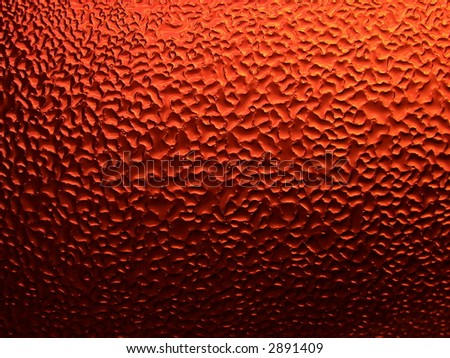 Series of the dripped glass. Orange colour