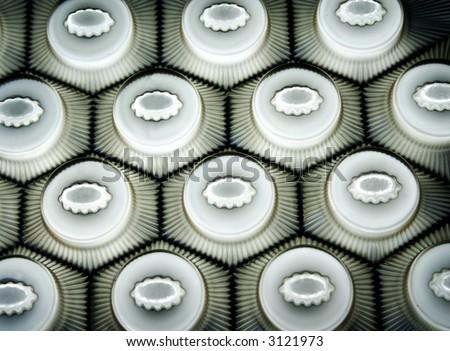 Series of the textures (plastic hexagon honeycombs 2)