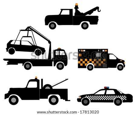 Series of towing / emergency vehicles