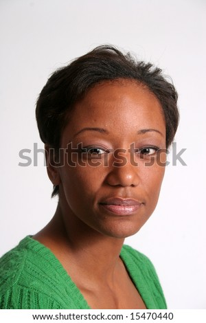 Serious and thoughtful Black woman