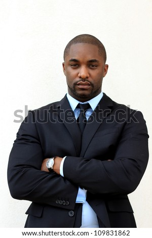 Serious, Attractive, Young Professional African American Businessman