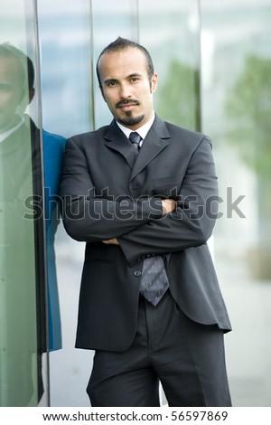 Serious Hispanic business man