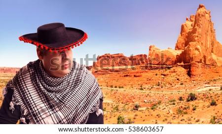 serious man in sombrero