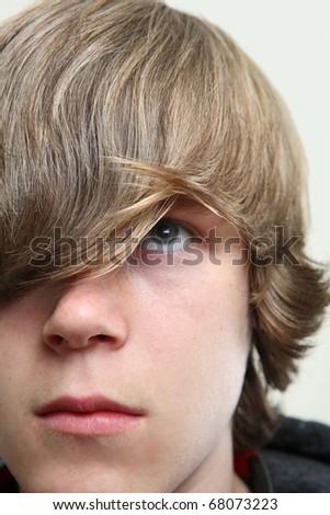 Serious Teen Boy