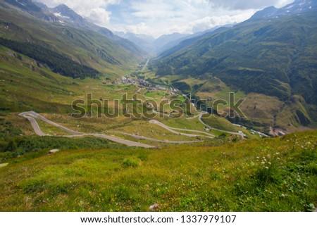 Serpentine in the Alps. Switzerland #1337979107