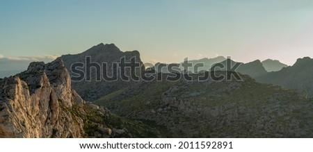 Serra de Tramuntana Mountains in Mallorca, Ballearic Islands, Spain Foto stock ©