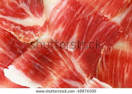 serrano ham background closeup