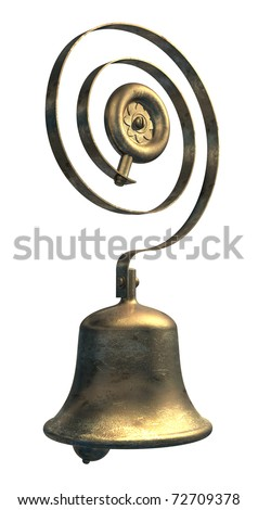 Servants service bell in brass or bronze