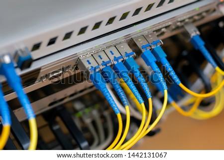 server computer  internet fiber internet connection server rack cabinet   mining cryptocurrency bitcoin  system