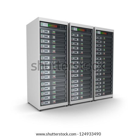 Server farm. Isolated on white.
