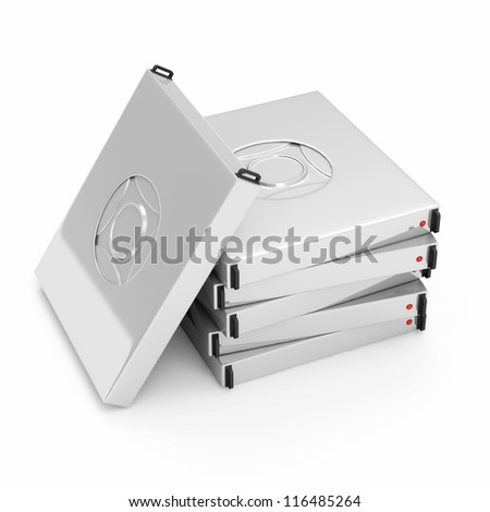 Server Hard Drive Disks isolated on white background
