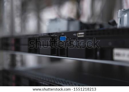 Server Hardware in a Datacenter rack #1551218213