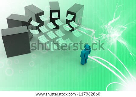 server network - stock photo