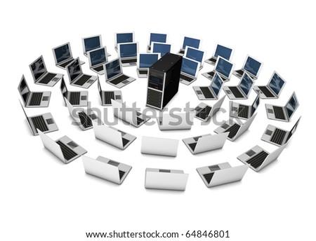 server networking - stock photo