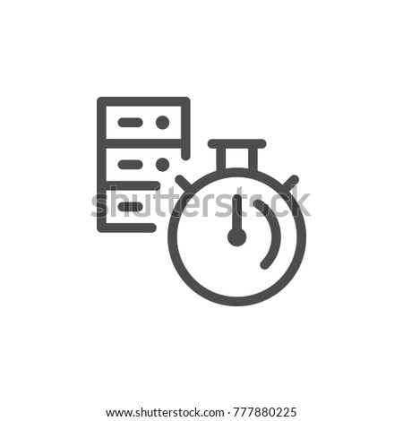 Server time line icon isolated on white