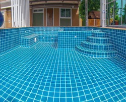 Service and maintenance of the pool.Cleaning the pool. Construction of swimming pool spa chair.Tile for the corner of the pool.