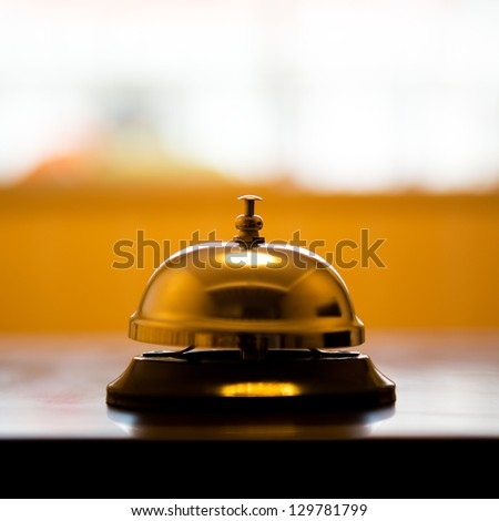 Service Bell At An Hotel Table.