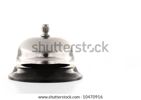 Service bell, isolated on white.  High-key effect.